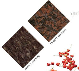 Star Ruby granite&Tan Brown granite